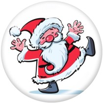 20MM  Christmas  Snowman  Deer  Love  Print   glass  snaps buttons