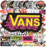 50 неповторяющихся приливов бренд VANS граффити наклейки скейтборд гитара чашка для воды тележка чехол водостойкие наклейки