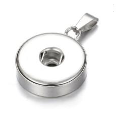 Pendentif en acier inoxydable pour bijoux à boutons-pression de 18 et 20 mm