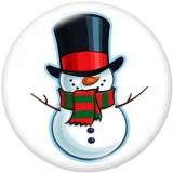 Стеклянные кнопки с принтом в виде рождественского снеговика и оленя, 20 мм
