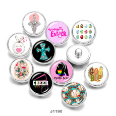 20MM  Kiss Me  Cross  happy easter  Print   glass  snaps buttons