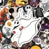 50 Christmas Horror Night Halloween Horror Graffiti Stickers Window Wall Wall Water Cup Trolley Sticker Stickers