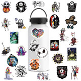 50 new zombie brides and Christmas horror night Halloween graffiti stickers water cup trolley case waterproof stickers