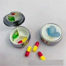 Круглая металлическая аптечка с тремя сетками 50 мм
