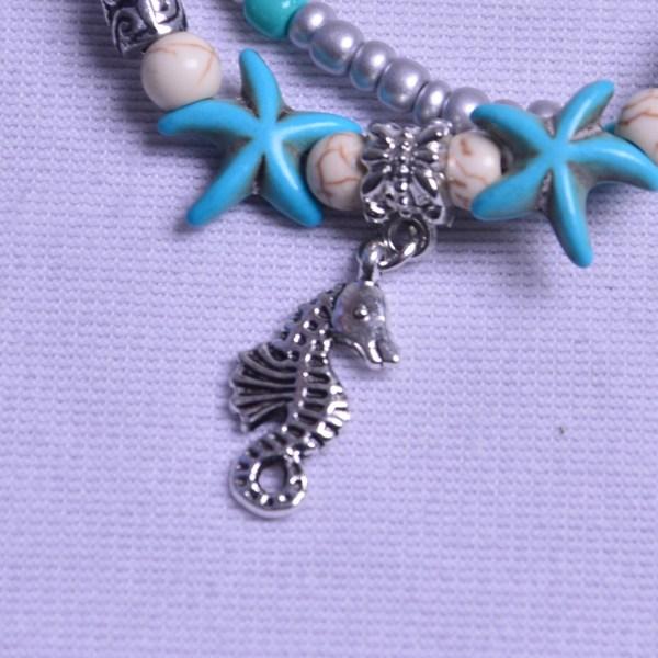 17 см + 5 см черепаха ножной браслет в виде ракушки рис Чжу Хайсин морской конек ретро йога песочная цепочка женский браслет на ножной браслет