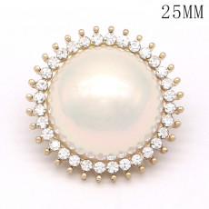 Les breloques plaquées or de perle en métal de haute qualité de 20 MM conviennent aux bijoux à pression de 20 mm