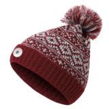 秋冬の新しいファーボールニット帽は、18mmのスナップボタンに合わせて暖かく厚みを保ちます。