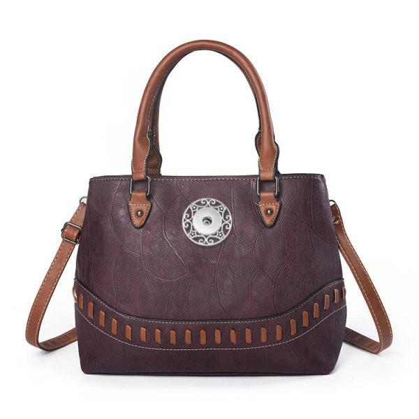 女性バッグストーンパターンファッション大容量ツインポータブル斜めバッグトートバッグフィット18mmチャンク