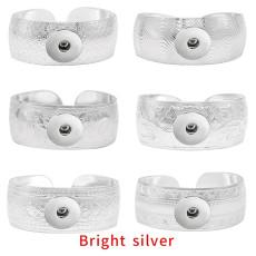 1-Knopf-Beschichtung Helles Silber-Schnapparmband passend für Druckknöpfe Schmuck