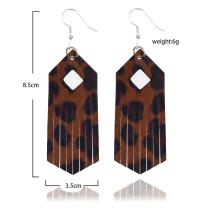 Кожаные серьги яркого цвета с леопардовым принтом
