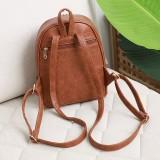 Mode Rucksack aus Leder mit Retro-Muster für 18 mm große Brocken