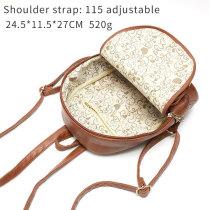 Leather retro pattern fashion tassel backpack fit 18mm chunks