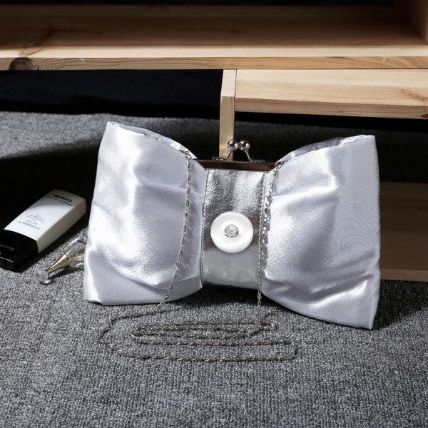 女性バッグ新しい流行のボウノットPUファッションチェーンディナーバッグクラッチバッグ斜めの小さな女性バッグブライダルバッグは18mmのチャンクに合います