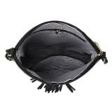ファッションバッグチェック柄コットンチェック柄ステッチ女性バッグダブルタッセル斜めショルダーバッグフィット18mmチャンク