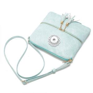 Double tassel front pocket zipper diagonal shoulder bag women's bag shoulder bag fit 18mm chunks