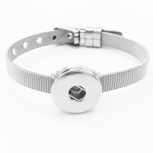 Stainless steel wih 1 buttons like Watch band