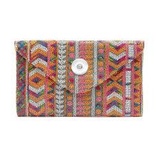 Sequined bag ladies clutch new sequin stitching envelope handbag fashion simple messenger bag female bag fit 18mm chunks