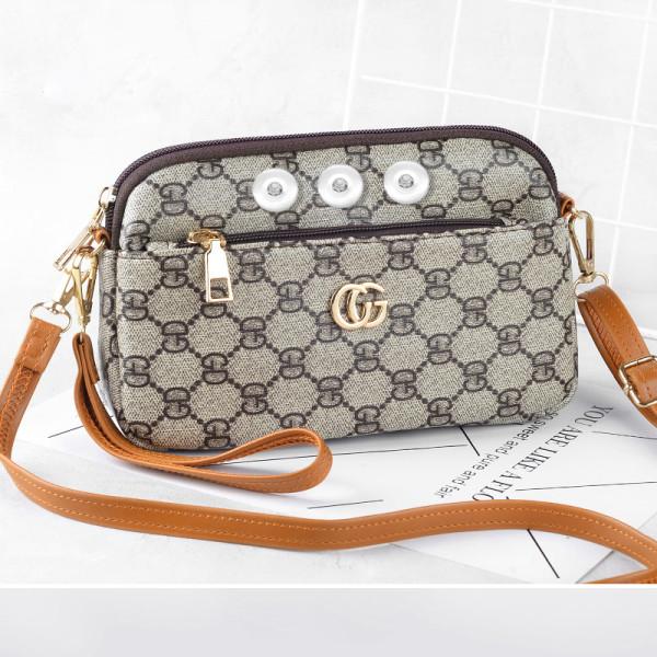 Old saying pattern fashion messenger bag fit 18mm chunks