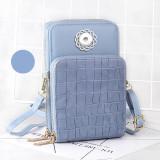Checkered fashion multi-layer leather diagonal bag fit 18mm chunks