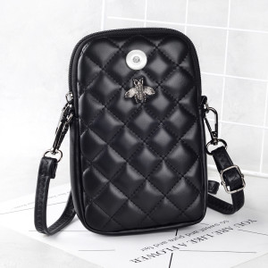 Checkered Bee Market Leather Crossbody Bag fit 18mm chunks
