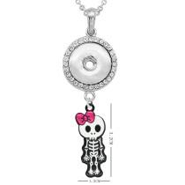 Ожерелье на Хэллоуин с аксессуарами, серебро, подходят, 20 мм, куски, 50 см, цепочка, защелки, ювелирное ожерелье для девочек