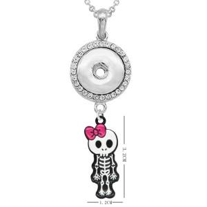 Halloween Halskette Mit Zubehör Silber Fit 20MM Brocken 50CM Kette Druckknöpfe Schmuck Halskette für Mädchen