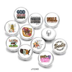 20MM USA  FALL  Print   glass  snaps buttons