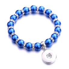 1 пуговица с застежкой жемчужный эластичный браслет fit18 и 20 мм ювелирные изделия с кнопками