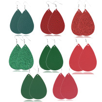 Christmas tree sequins Leather Earrings