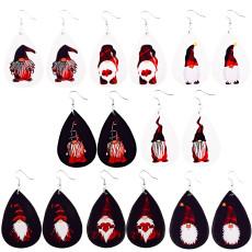 Christmas Santa Leather Earrings
