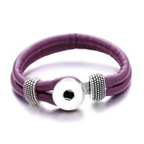 Las pulseras de cuero a presión se ajustan a trozos a presión de 20 mm con 1 botón