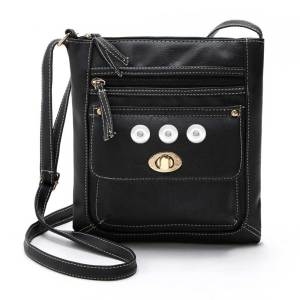 New style portable car stitching turn buckle small shoulder bag messenger bag female bag fit 18mm chunks