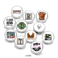 20MM  Basketbal   MAMA   Print  glass  snaps  buttons
