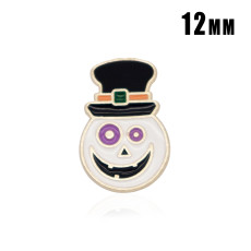12MM Halloween Design Metall versilbert Snap Charms Multicolor