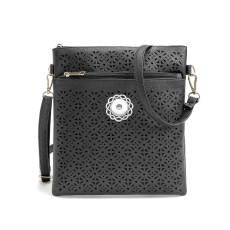 Diagonal bag handbags hot sale double zipper hollow crossbody bag shoulder small bag fit 18mm chunks