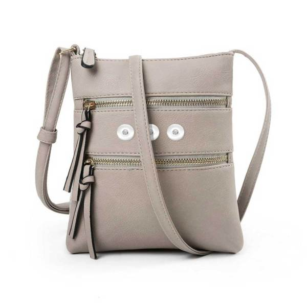 Heiß verkaufte lässige Multifunktionstasche Doppelreißverschluss vertikale weibliche Tasche Umhängetasche Messenger Bag für 18mm Stücke