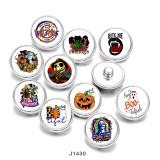 20MM Halloween Katzenschädel Print Glasdruckknöpfe