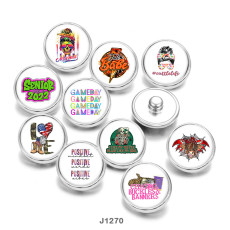 20MM  love  words   Print  glass  snaps  buttons