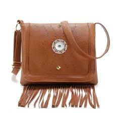 New retro wicker nail hollow tassel messenger bag women's bag fit 18mm chunks