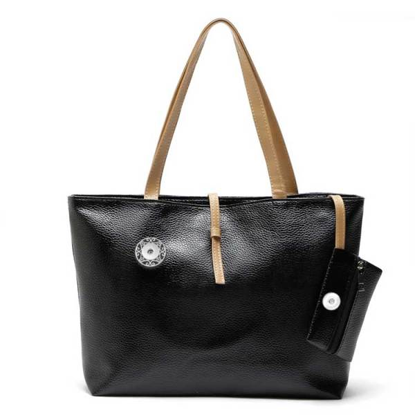 Thickened PU autumn and winter ladies handbags simple and elegant fashion one-shoulder two-piece bag fit 18mm chunks