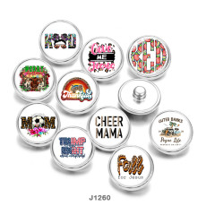 20MM  pattern  MOM   Print  glass  snaps  buttons