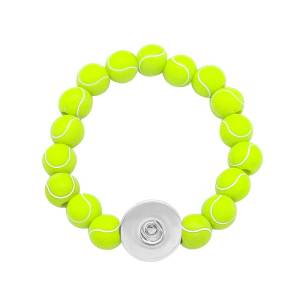 1 boutons Bracelet à bouton-pression Softball Football fit boutons-pression de 18 mm