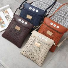 The new hollow patch leather diagonal bag shoulder bag hot sale fit 18mm chunks