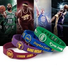 Silikonarmband verstellbarer Stern Teamsport Basketball Armband Kobe James Curry Sternarmband