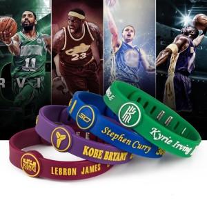 Bracelet en silicone réglable bracelet de basket-ball de sport en étoile Bracelet en étoile Kobe James Curry