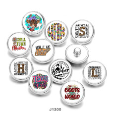 20MM  pattern  cattle   Print  glass  snaps  buttons