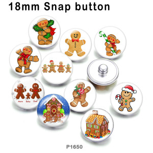 10pcs/lot  Christmas  Snowman  glass picture printing products of various sizes  Fridge magnet cabochon