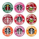 20MM Christmas Cheer Leader Ich mag Kaffee Druckknöpfe aus Glas