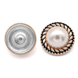 21mm round plastic button electroplated button fit 20mm snap jewelry