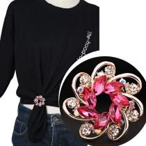 High-End Seidenschal Schnalle Clip Zubehör Dual-Use Schalschnalle T-Shirt Eckschnalle Pullover Brosche Brosche